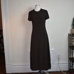 Brown Geometric Design Dress